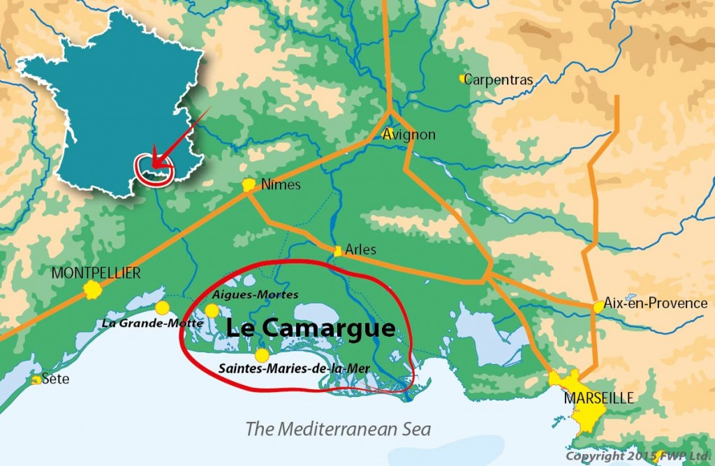 Map of the Camargue