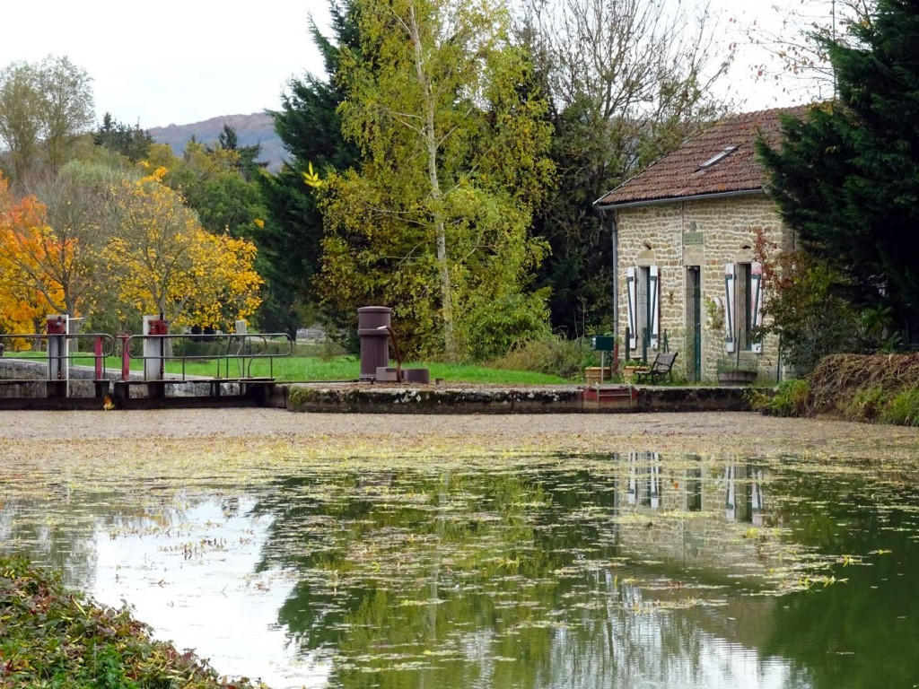 Canal lock house